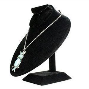 Velvet Jewelry Bust Display Stand
